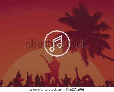 Playlist Music Album Track Audio Listen Stereo Sound Concept - stock photo
