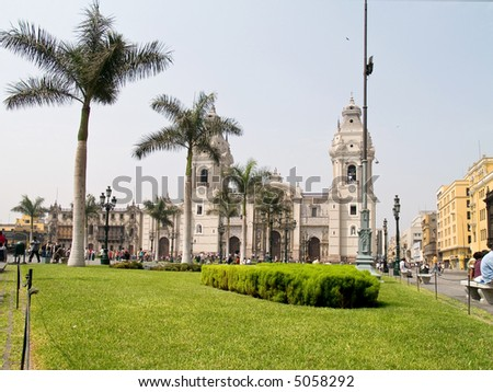 Plaza de armas at Lima, Peru - stock photo