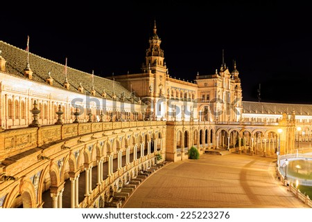 Plaza de Espana - Spanish Square in Seville, Andalusia, Spain