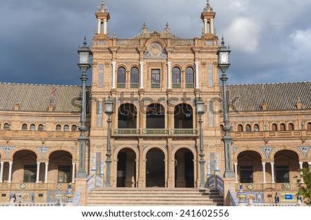 Plaza de Espana - Spanish Square in Seville, Andalusia, Spain - stock photo