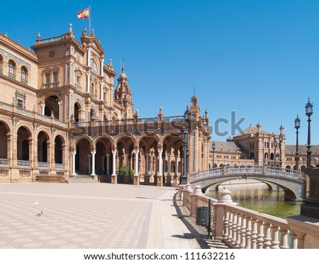 Plaza de Espana (Square of Spain) in Seville, Andalusia