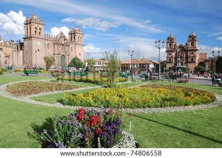 Plaza del armas Cuzco Peru - stock photo