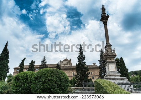 Plaza del Triunfo in Granada (Spain) - stock photo
