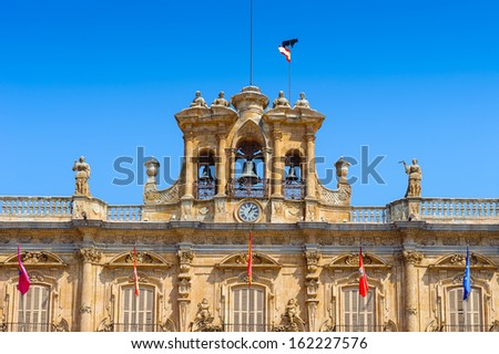 Plaza Mayor de Salamanca (Salamanca Major Square), Salamanca, Spain - stock photo