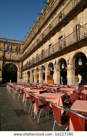 Plaza Mayor in Salamanca, Spain - stock photo