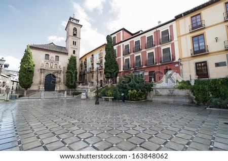 Plaza Nueva-Granada-Spain - stock photo