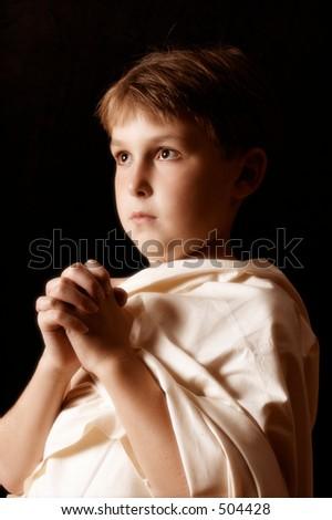 Pleading, asking, petitioning, praying, etc, - stock photo