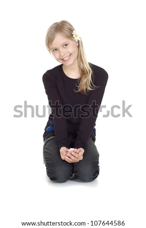 Pleasant female  showed herself in the photos in all her glory - stock photo