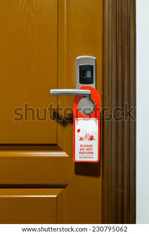 Please do not disturb - stock photo