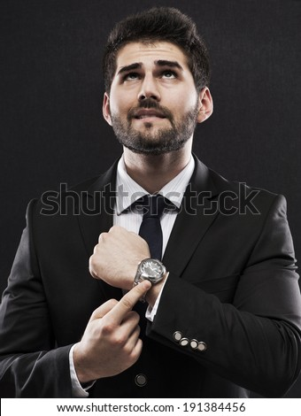Please give more time - stock photo