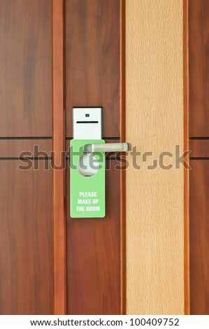 Please Make Up The Room - stock photo