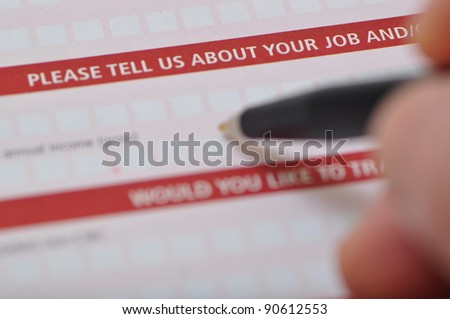 Please tell us about your job - stock photo