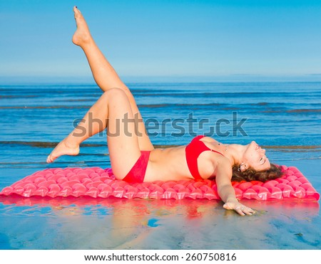 Pleasure Mattress Woman  - stock photo