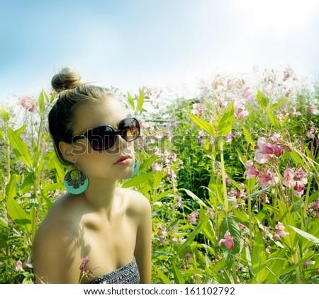 Pleasure of life and sun. - stock photo