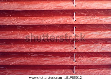 Pleated blind red - stock photo