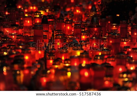 Plenty of candle lights to celebrate the dead ones
