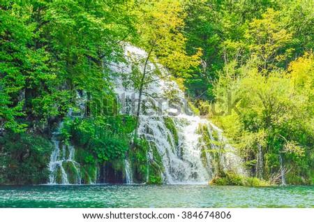 Plitvice lakes - stock photo