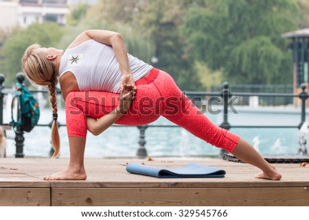 PLOVDIV, BULGARIA - SEPTEMBER 26, 2015 - Move week festival in the central park of Plovdiv, Bulgaria. The festival includes activities like yoga, aerobics, martial arts, dancing and many more.