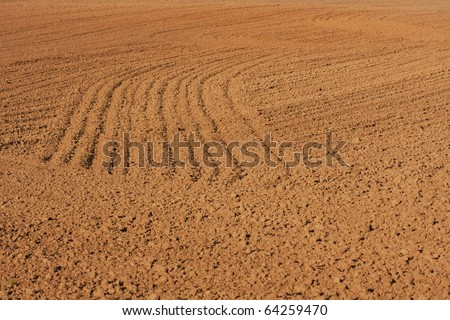 Plowed field ready for planting
