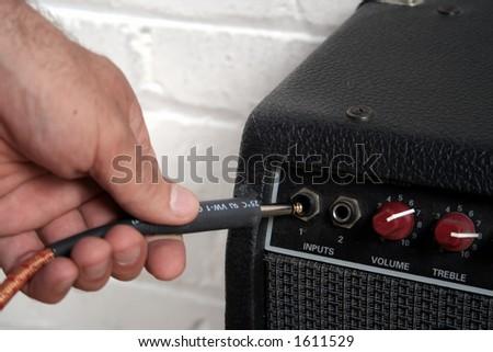 Plug in - stock photo