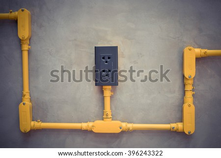 Plug in the wall - stock photo