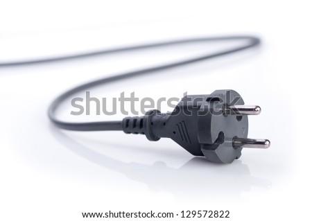"Plug of power supply ""230V"" on the white background. - stock photo"