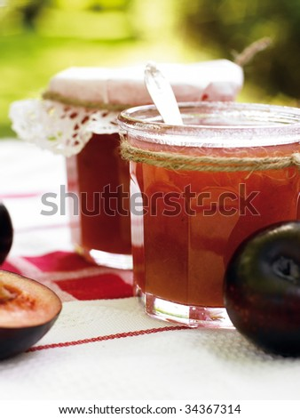 Plum jam - stock photo