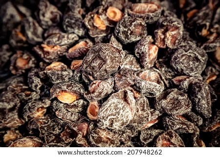 plum preserved - stock photo