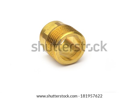 Plumbing connector on white background  - stock photo