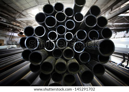 plumbing pipes industry - stock photo
