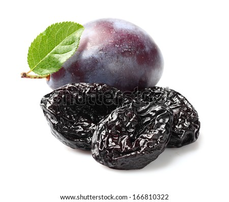 Plums with prunes - stock photo