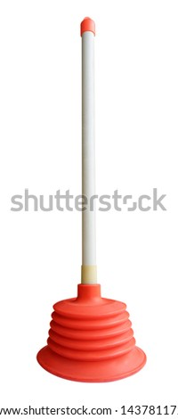 Plunger isolated on white. Clipping path included.