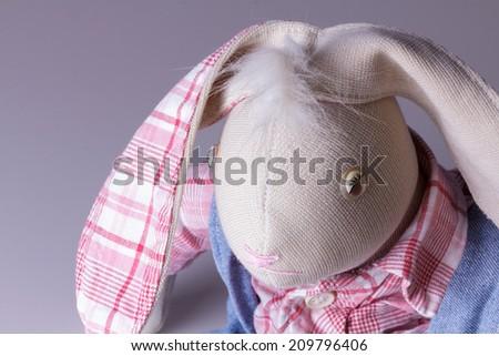 plush bunny tilde - stock photo