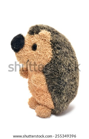 plush hedgehog toy  - stock photo