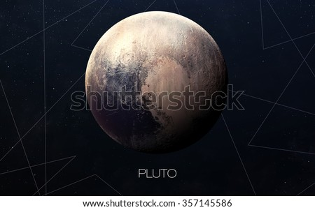 Pluto - High resolution images presents planets of the solar system. This image elements furnished by NASA. - stock photo