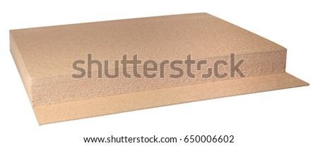 plywood boards  for the furniture industry isolated on white background