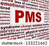 PMS medical poster design. Premenstrual problems warning message - stock vector