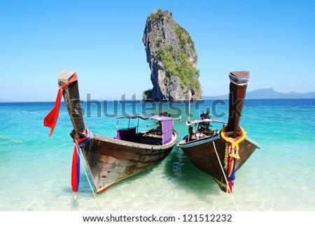 Po da island in thailand - stock photo