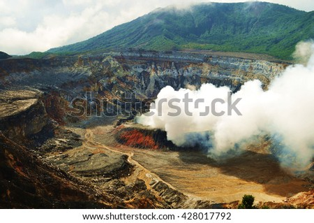 Poas Volcano National Park, Costa Rica - stock photo