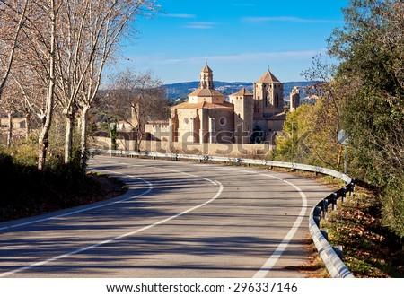 Poblet Monastery. Catalonia. Spain - stock photo
