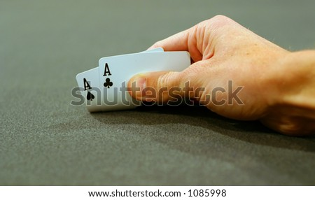 Pocket Aces - stock photo
