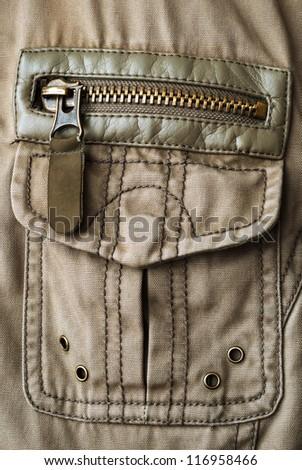 pocket on jacket - stock photo