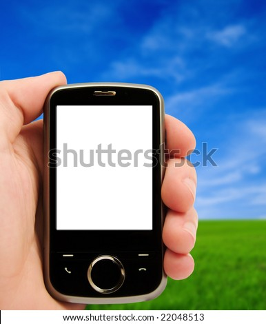 pocket pc - stock photo