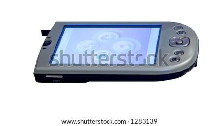 Pocket PC, isolated - stock photo