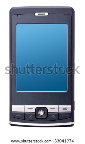 Pocket PC isolated on white background - stock photo
