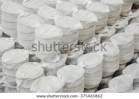 pocket springs sample - stock photo