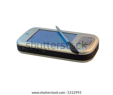 PocketPC smartphone, isolated - stock photo
