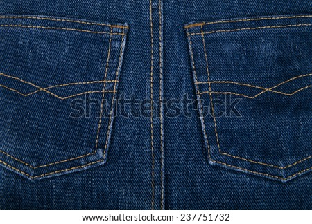 pockets on jeans as a background - stock photo