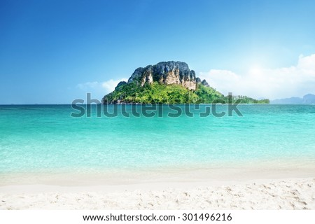 Poda island, Krabi province, Thailand - stock photo