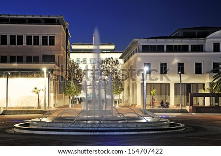 Podgorica Republic Square - stock photo
